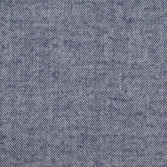 コットン&ポリウレタン×ミックス(ネイビー)×ヘリンボーン・シャーリング_全3色 サムネイル1