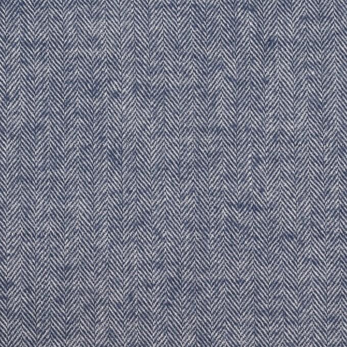 コットン&ポリウレタン×ミックス(ネイビー)×ヘリンボーン・シャーリング_全3色 イメージ1