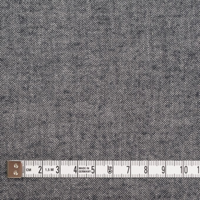 コットン&ポリウレタン×ミックス(ブラック)×ヘリンボーン・シャーリング_全3色 イメージ4