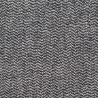 コットン&ポリウレタン×ミックス(ブラック)×ヘリンボーン・シャーリング_全3色