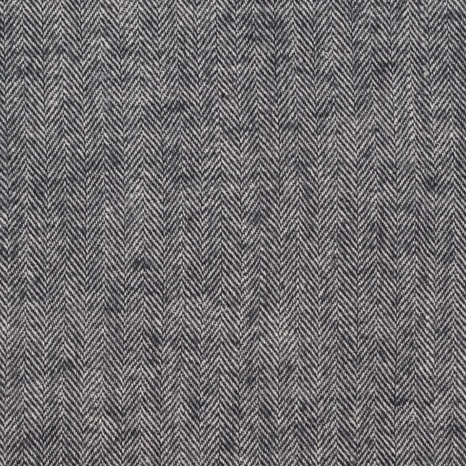 コットン&ポリウレタン×ミックス(ブラック)×ヘリンボーン・シャーリング_全3色 イメージ1