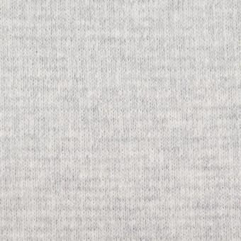 コットン×無地(ライトグレー)×Wニット_全2色