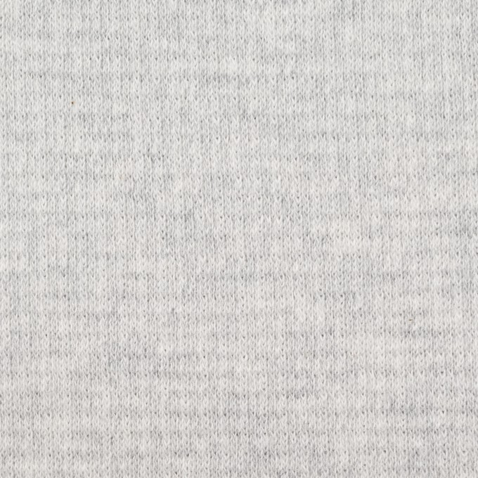 コットン×無地(ライトグレー)×Wニット_全2色 イメージ1