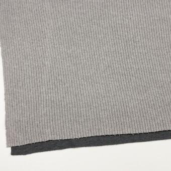 コットン&ポリウレタン×無地(グレー&チャコールグレー)×リブ&天竺ニット サムネイル2