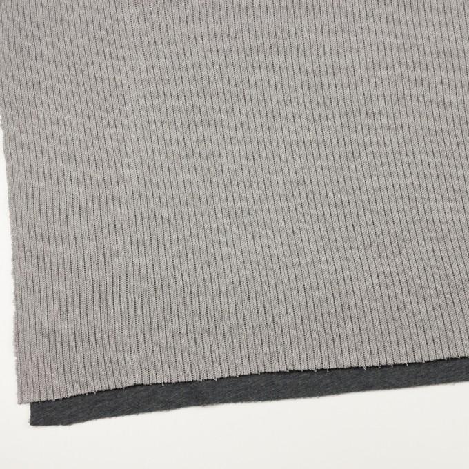 コットン&ポリウレタン×無地(グレー&チャコールグレー)×リブ&天竺ニット イメージ2