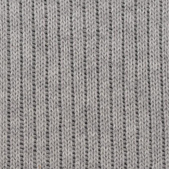 コットン&ポリウレタン×無地(グレー&チャコールグレー)×リブ&天竺ニット イメージ1