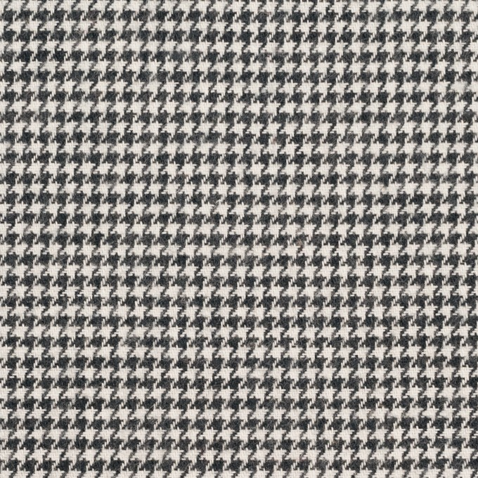 コットン×チェック(チャコール)×千鳥格子 イメージ1