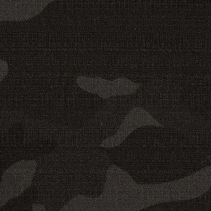 コットン&ポリウレタン×迷彩(チャコール)×ブッチャー・ストレッチ イメージ1