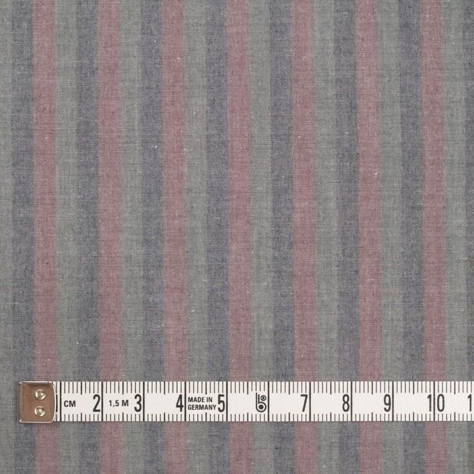 コットン×ストライプ(グレイッシュピンク、アッシュネイビー&モスグレー)×ローン イメージ4
