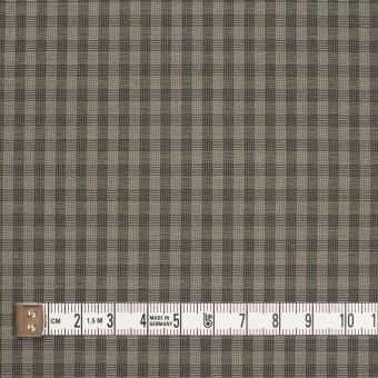 コットン×チェック(モスグレー)×ポプリン_イタリア製 サムネイル4