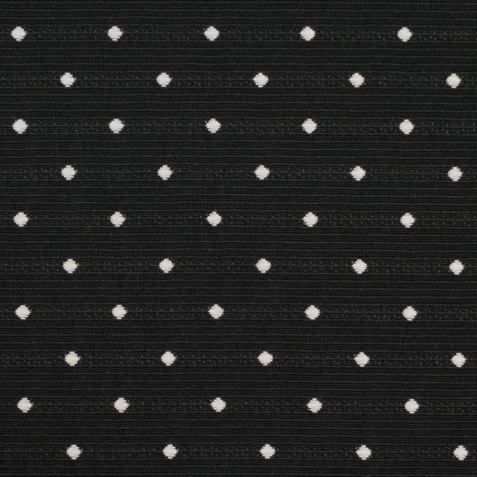 ポリエステル×ドット(ブラック)×形状記憶タフタドビー_全2色 イメージ1