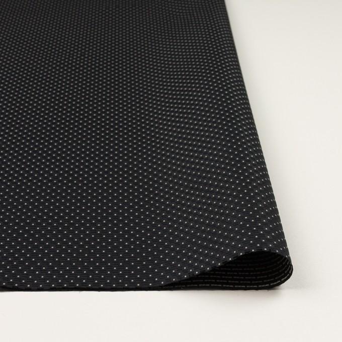 ポリエステル×ドット(ブラック)×形状記憶ジャガード イメージ3