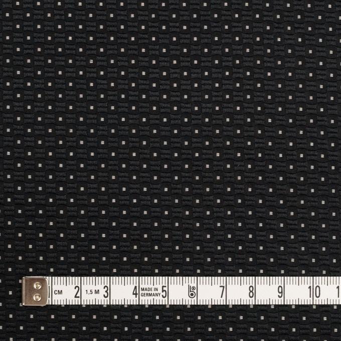 ポリエステル×ドット(ブラック)×形状記憶ジャガード イメージ4