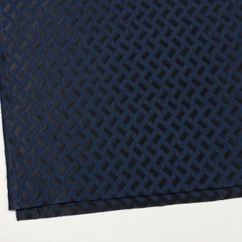 ポリエステル×幾何学模様(プルシアンブルー&ブラック)×フクレジャガード サムネイル2