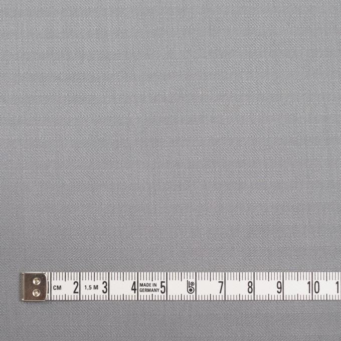 コットン×無地(シルバーグレー)×ヘリンボーン_イタリア製 イメージ4