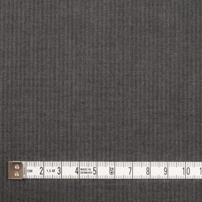コットン×無地(チャコールグレー)×ヘリンボーン_イタリア製 イメージ4