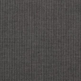 コットン×無地(チャコールグレー)×ヘリンボーン_イタリア製