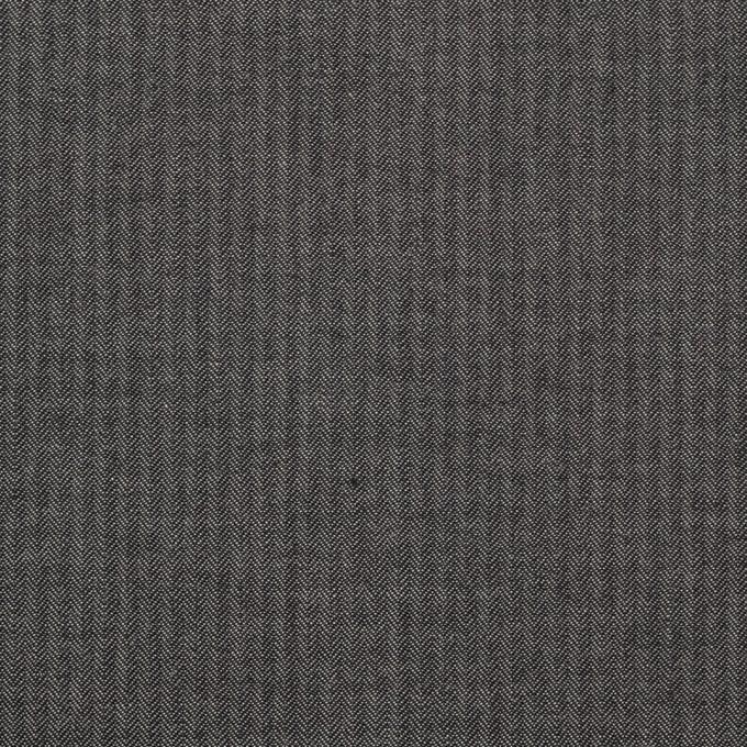 コットン×無地(チャコールグレー)×ヘリンボーン_イタリア製 イメージ1