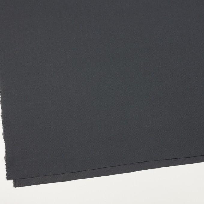 コットン×無地(チャコールグレー)×かわり織_イタリア製 イメージ2