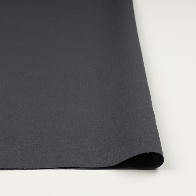 コットン×無地(チャコールグレー)×かわり織_イタリア製 イメージ3