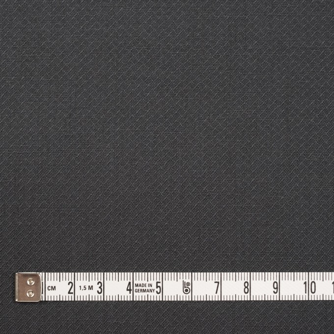 コットン×無地(チャコールグレー)×かわり織_イタリア製 イメージ4