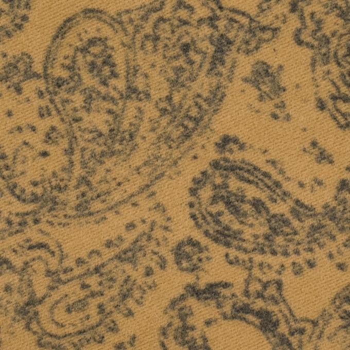 コットン×ペイズリー(オークル)×フランネル イメージ1