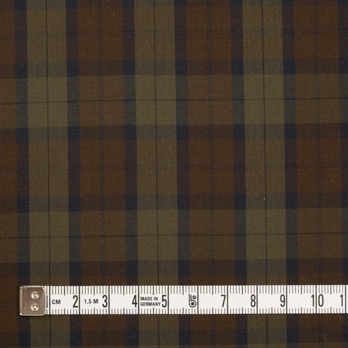 コットン×チェック(カーキグリーン&カーキブラウン)×ブロード イメージ4