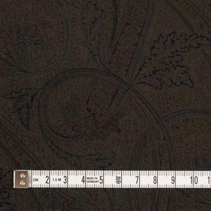 ポリエステル&キュプラ×ペイズリー(カーキブラウン)×ポプリン イメージ4