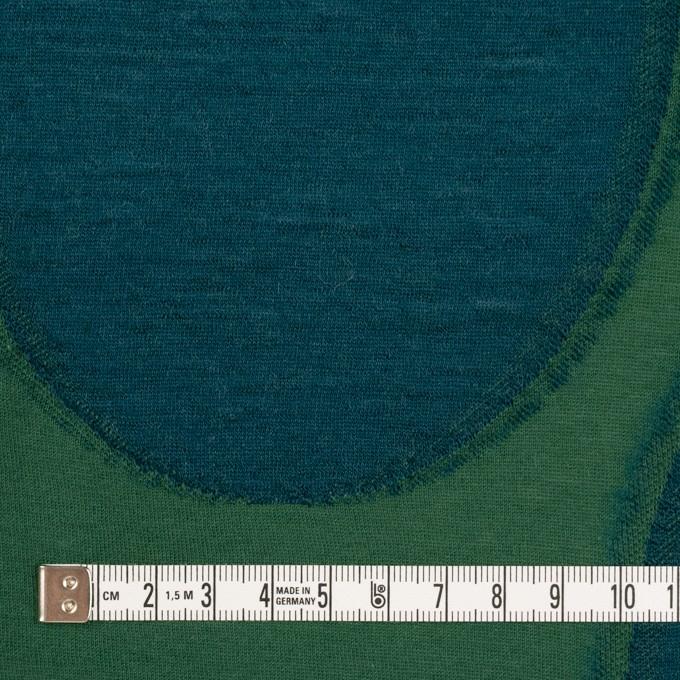 ウール&コットン×サークル(グリーン&バルビゾン)×天竺ジャガードニット イメージ4