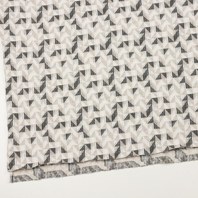 コットン&ウール×幾何学模様(アイボリー&チャコール)×ジャガードニット_全2色 イメージ2