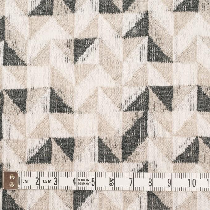 コットン&ウール×幾何学模様(アイボリー&チャコール)×ジャガードニット_全2色 イメージ4