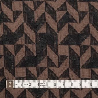 コットン&ウール×幾何学模様(モカ&ダークブラウン)×ジャガードニット_全2色 サムネイル4