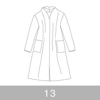 オリジナルパターン#016_ロングカーディガン_13号 サムネイル1