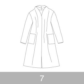 オリジナルパターン#016_ロングカーディガン_7号 サムネイル1