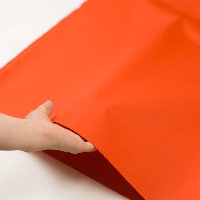 コットン×無地(オレンジ)×ギャバジン(パラフィン加工)_全3色 イメージ5