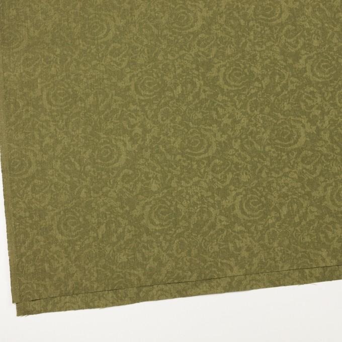 ポリエステル×フラワー(カーキグリーン)×ジャガード イメージ2