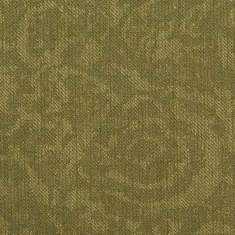 ポリエステル×フラワー(カーキグリーン)×ジャガード サムネイル1