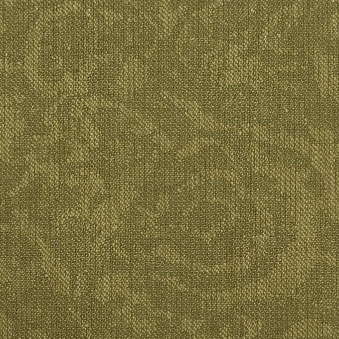 ポリエステル×フラワー(カーキグリーン)×ジャガード イメージ1