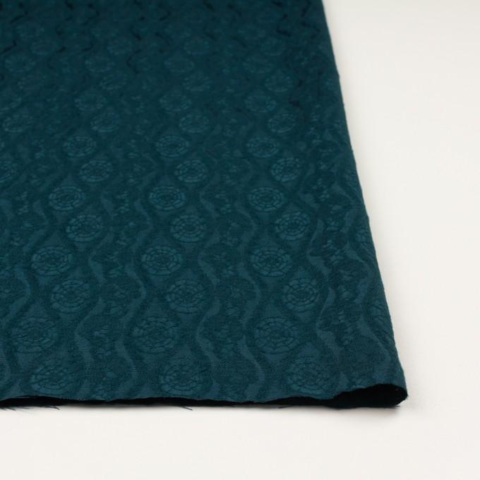ウール&レーヨン×幾何学模様(バルビゾンブルー)×ジャガード_全3色 イメージ3