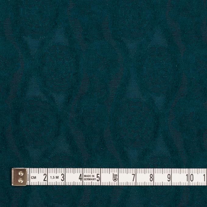 ウール&レーヨン×幾何学模様(バルビゾンブルー)×ジャガード_全3色 イメージ4