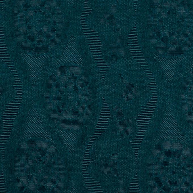 ウール&レーヨン×幾何学模様(バルビゾンブルー)×ジャガード_全3色 イメージ1