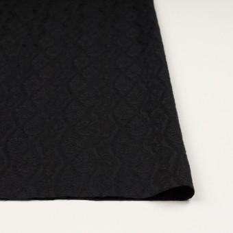 ウール&レーヨン×幾何学模様(ブラック)×ジャガード_全3色 サムネイル3