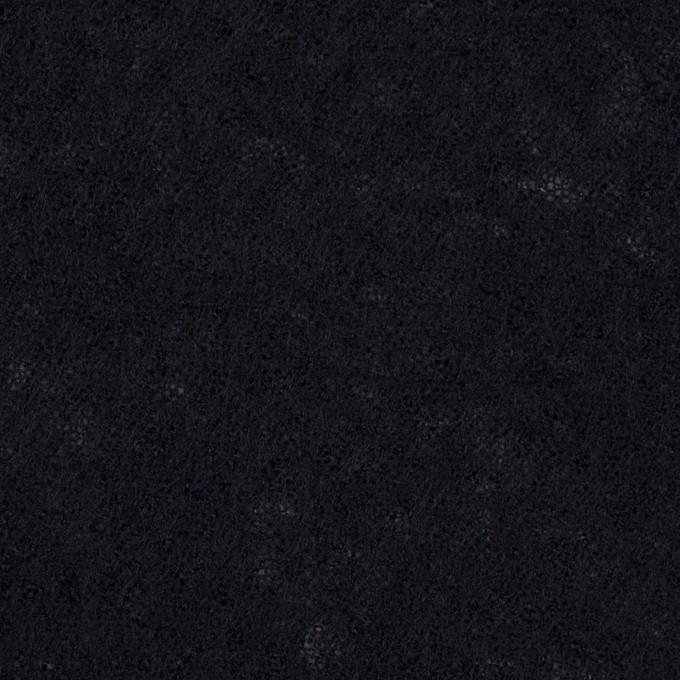 ウール×無地(ブラック)×ガーゼ イメージ1
