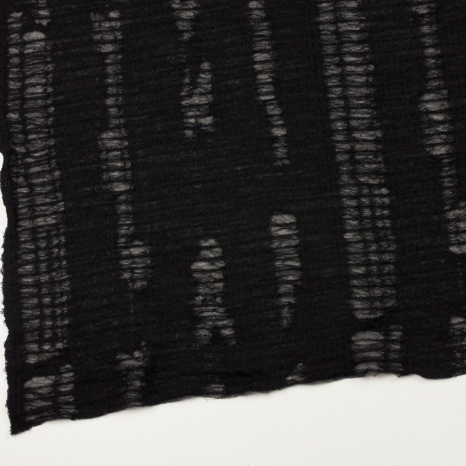ウール&アクリル混×ミックス(チャコールグレー&ブラック)×Wジャガードニット イメージ2