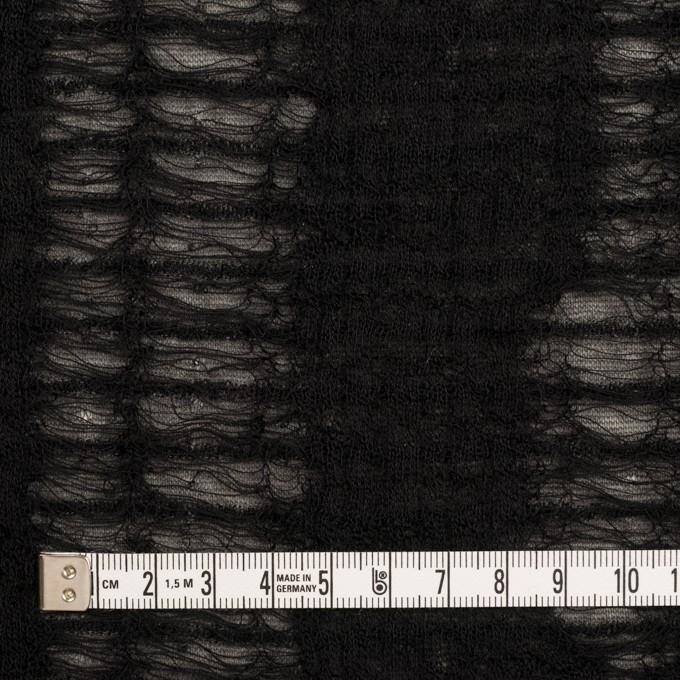 ウール&アクリル混×ミックス(チャコールグレー&ブラック)×Wジャガードニット イメージ4