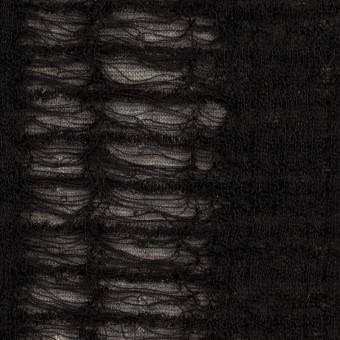 ウール&アクリル混×ミックス(チャコールグレー&ブラック)×Wジャガードニット