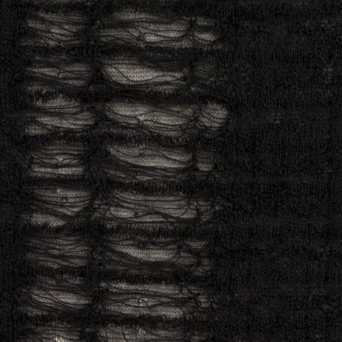 ウール&アクリル混×ミックス(チャコールグレー&ブラック)×Wジャガードニット イメージ1