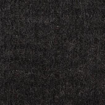 コットン&ウール×無地(チャコール)×Wジャガードニット