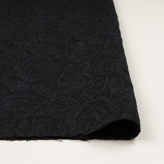 ポリエステル&アクリル混×フラワー(ブラック)×フクレジャガード_全2色 イメージ3