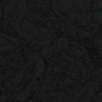 ポリエステル&アクリル混×フラワー(ブラック)×フクレジャガード_全2色 サムネイル1